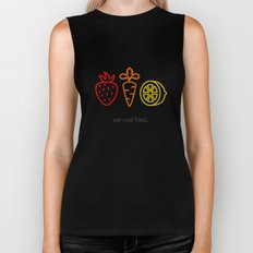 Eat Real Food. (dark) Biker Tank