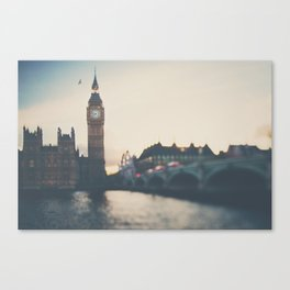 sunset over the city ... Canvas Print