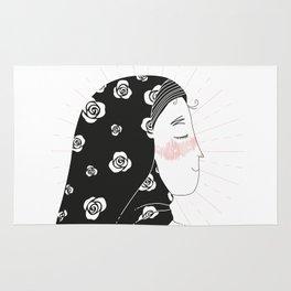 confident fatima / illustration Rug