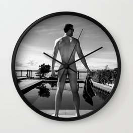 Swim Naked Wall Clock