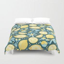 Lemon Pattern Green Duvet Cover