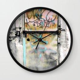 One Door at Plaka-Athens Wall Clock