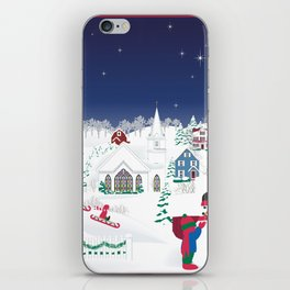 Christmas carolers in the country iPhone Skin