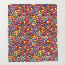 Candy-Coated Milk Chocolate Candy Pattern Throw Blanket