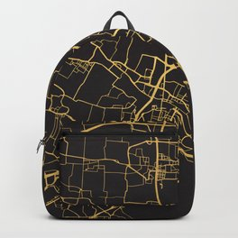 VENICE ITALY GOLD ON BLACK CITY MAP Backpack