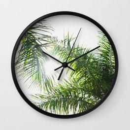Summer Palm Trees - Modern Minimalist Wall Clock