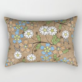 Vintage floral pattern. Rectangular Pillow
