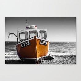 Fishing Boat on a Beach Canvas Print
