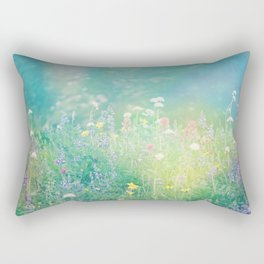 Mountain Wildflowers Rectangular Pillow