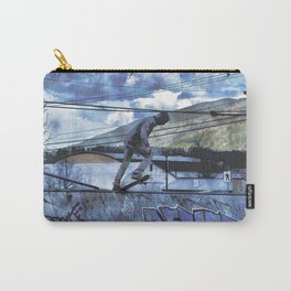 Tipping Point -Skateboarder Launching - Outdoor Sports Carry-All Pouch