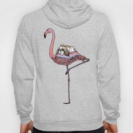 Flamingo and Shih Tzu Hoody