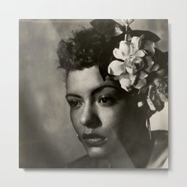 Billie Holiday, 1940's Portrait Metal Print