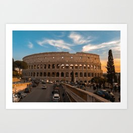 Coloseum at sunset Art Print