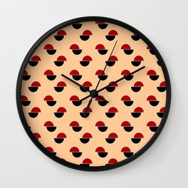 Wild polka dot 3- ceramic coulors Wall Clock