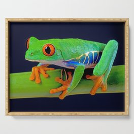 TREE FROG ON BAMBOO Serving Tray