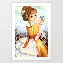 Summer-girl Art Print