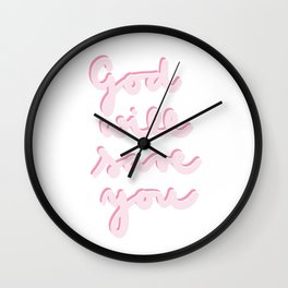 God will save you Wall Clock