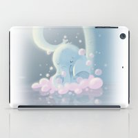 baby elephant iPad Cases featuring Elephant Baby by SatrunTwins