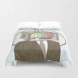 Please Stand By Duvet Cover
