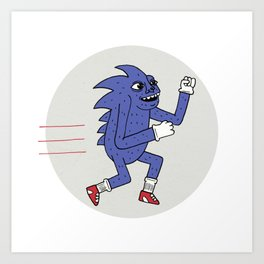 RUNHOG THE SUPERSONIC SPEED PIG Art Print