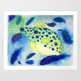 Swimming in a Sea of Feathers Art Print