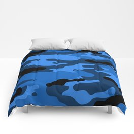 Blue Camouflage Comforters
