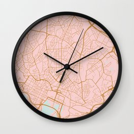 Olso map, Norway Wall Clock