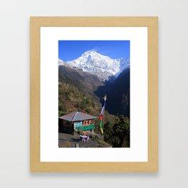 Annapurna South, Himalayas, Nepal Framed Art Print