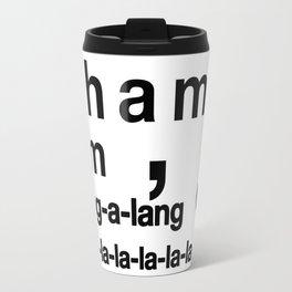 Wham Bam Shang-a-lang - Helvetica List Travel Mug