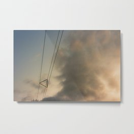 Keeping the wires together Metal Print