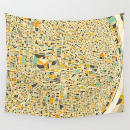 St Louis Map Wall Tapestry