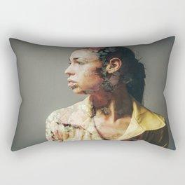 FACE FLORAL Rectangular Pillow