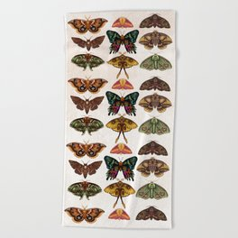 Moth Wings III Beach Towel