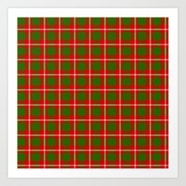 Tartan Style Green and Red Plaid Art Print