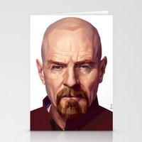walter white Stationery Cards featuring WALTER WHITE by nachodraws