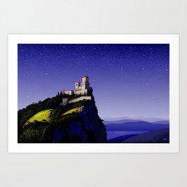 San Marino Castle Art Print