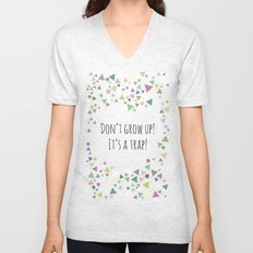 Don't grow up (colorful) Unisex V-Neck