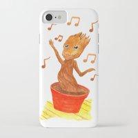 groot iPhone & iPod Cases featuring Baby Groot by gunberk