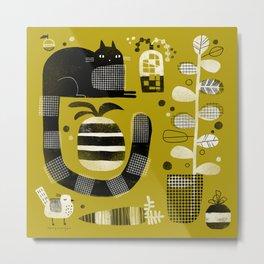 CAT & STUFF Metal Print