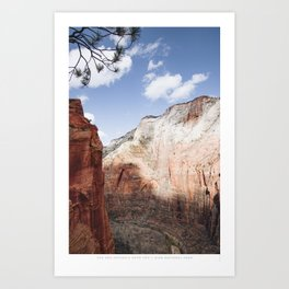 UPTO YOU Art Print