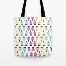 Rainbow Watercolor Bubble Tea Tote Bag