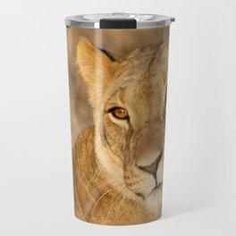 Golden Lioness Travel Mug