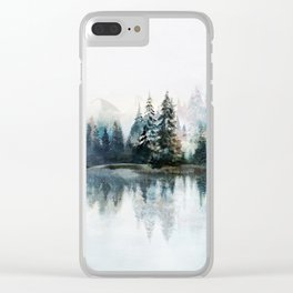 Winter Morning Clear iPhone Case