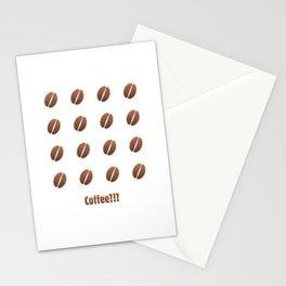 Tasty coffee seamless pattern Stationery Cards