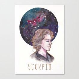 Constellations - Anakin Skywalker - Scorpio Canvas Print
