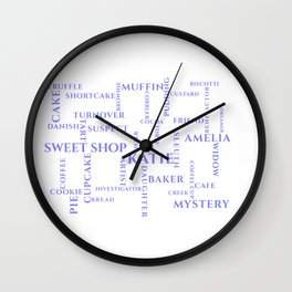 Amish Sweet Shop Mysteries Word Puzzle Wall Clock