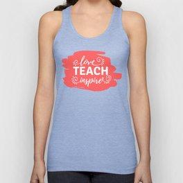 Love, Teach, Inspire Unisex Tank Top