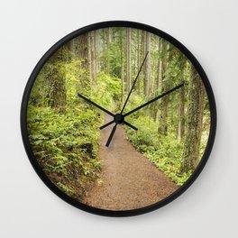 Walking the Rim Wall Clock