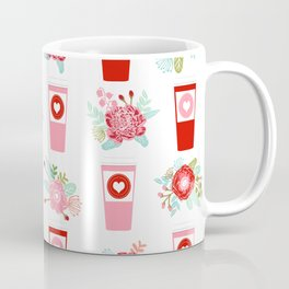 Coffee floral bouquet painted flowers for valentines day gifts coffee lovers must haves Coffee Mug