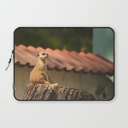 Meerkat Funny Observer #decor #society6 Laptop Sleeve